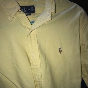 Yellow button up Ralph Lauren
